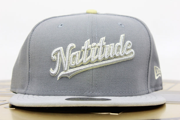 WASHINGTON NATIONALS MLB 2 TONE COOL GREY NEW ERA 59FIFTY FITTED HAT