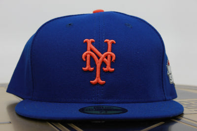 NEW YORK METS 2015 WORLD SERIES PATCH NEW ERA 59FIFTY FITTED HAT