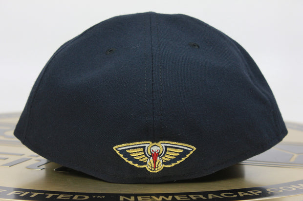 NEW ORLEANS PELICANS PRIMARY INAUGURAL SEASON MADE IN USA NEW ERA 59FIFTY FITTED HAT