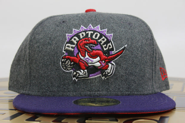 TORONTO RAPTORS MELTON OFFICIAL TEAM COLOR NEW ERA 59FIFTY FITTED CAP