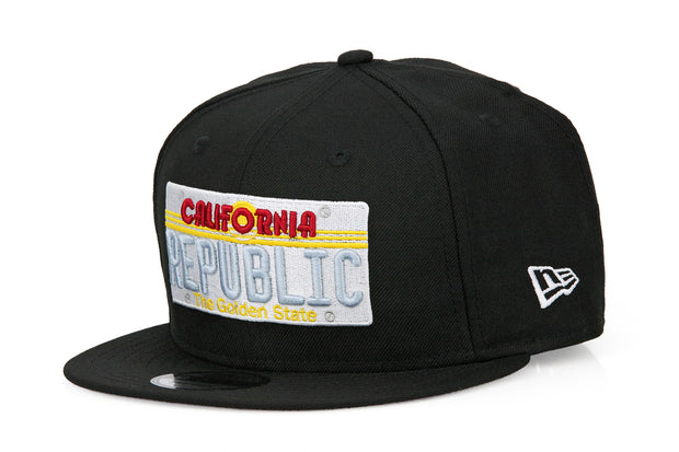 CALIFORNIA REPUBLIC LICENSE PLATE NEW ERA SNAPBACK HAT