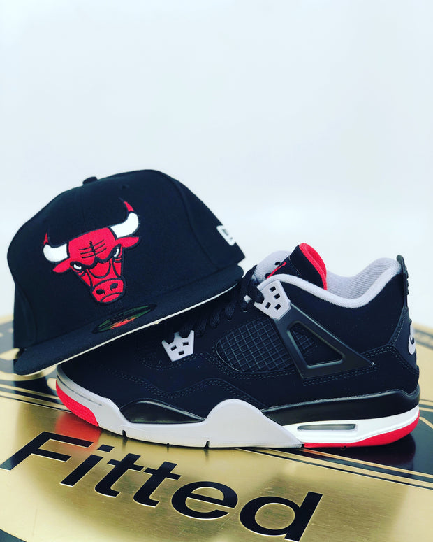 CHICAGO BULLS AIR JORDAN 4 BRED 2019 MATCHING NEW ERA 59FIFTY FITTED HAT