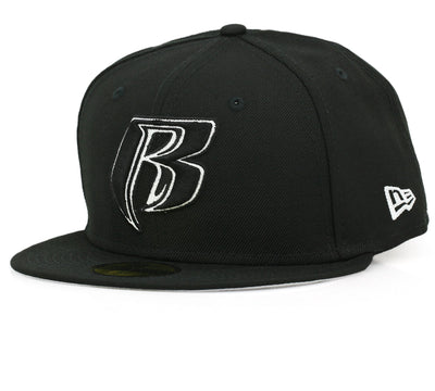 RUFF RYDERS JET BLACK / GLACIAL WHITE NEW ERA FITTED CAP