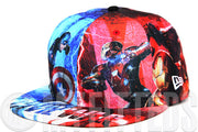 Captain America: Civil War All Over Sublimated Graphics Movie Inspired New Era Fitted Cap