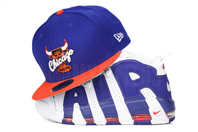 "Chicago Bulls Club Royal Orangeade Air More Uptempo 96 ""Knicks"" New Era Fitted Cap"