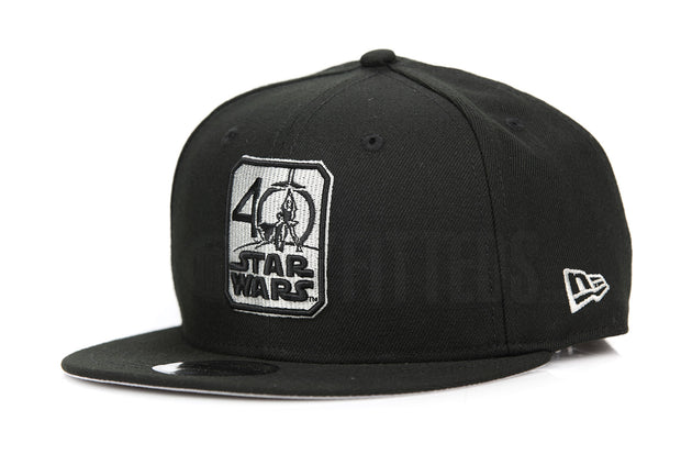 Star Wars 40th Anniversary Commemorative Jet Black Silver Collectible New Era Snapback