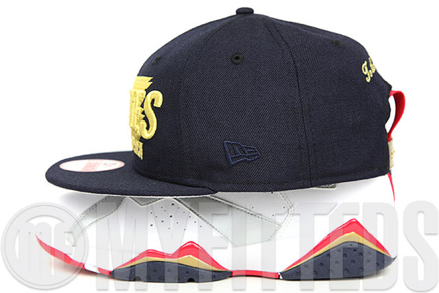 "USA United States of America ""To the Victor Goes Gold"" Midnight Navy Metallic Gold New Era Snapback Hat"