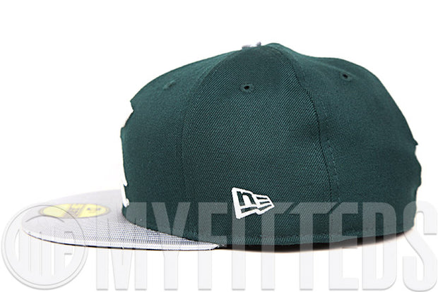Michigan State Spartans Fine Pine Metallic Silver Glacial White NCAA New Era Fitted Cap
