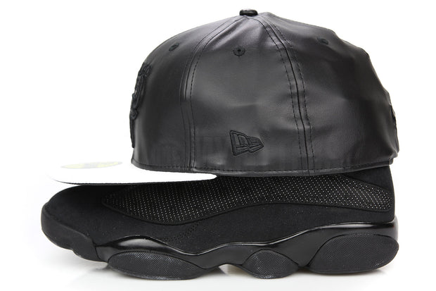 "Chicago Bulls Jet Black Faux Glacial White Air Jordan VI Retro ""Black Cat"" Matching New Era Hat"