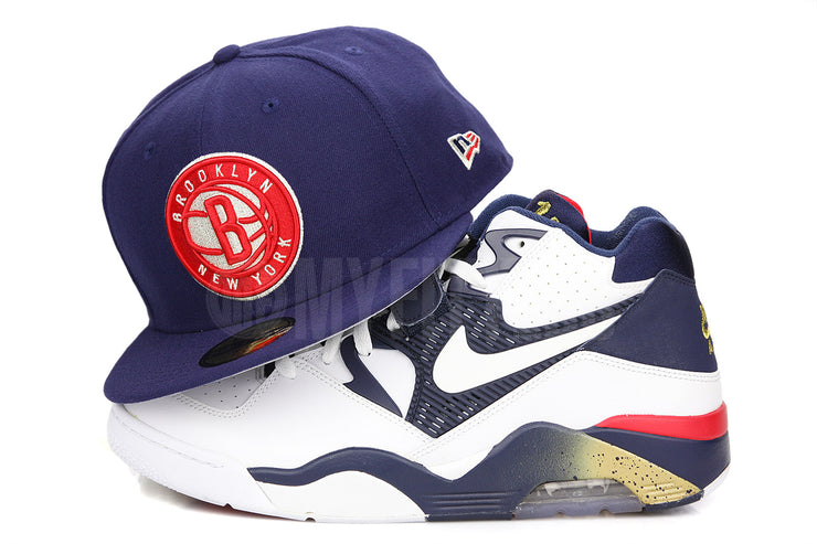"Brooklyn Nets Stars & Stripes Collegiate Navy Scarlet Air Force 180 ""Olympic"" New Era Hat"
