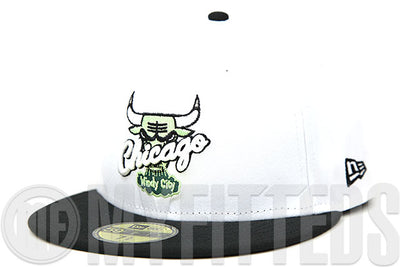 "Chicago Bulls Glacial White Jet Black Emerald Moss Air Jordan XIV ""Oxidized Green"" New Era Hat"