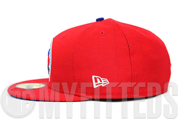 Toronto Blue Jays Scarlet Club Royal Glacial White Team Colors Custom New Era Fitted Cap