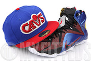 Cleveland Cavaliers Sapphire Blue Scarlet Glow In The Dark LeBron XII What The New Era Fitted Hat