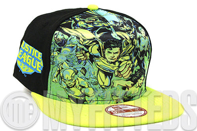 DC Comics Justice League Team Stance Jet Black High Voltage Evolution A-Frame New Era Snapback