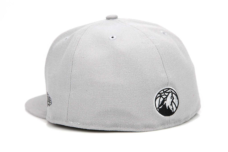 Minnesota Timberwolves Placid Gray Metallic Black Pearl Custom New Era Hat