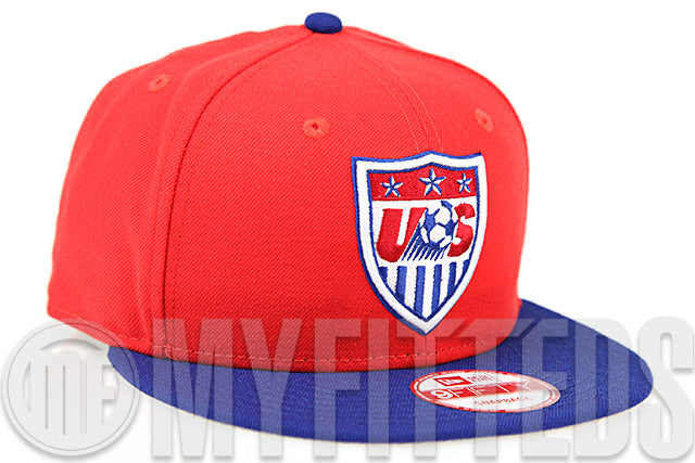 5aac7251a7e Team USA Soccer Erupting Magma Club Royal Garnet Fire Official Colorway New  Era Snapback Hat