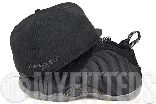 United States of America Jet Black Stealth Grey Spur Silver Pearl Custom New Era Fitted Cap