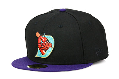 El Paso Diablos Jet Black Concord Emerald Scarlet MiLB Custom New Era Fitted Cap