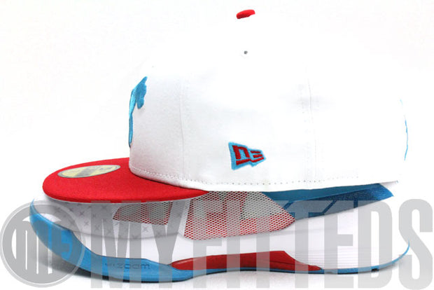 Detroit Tigers Glacial White Red Process Blue New Era Fitted Cap