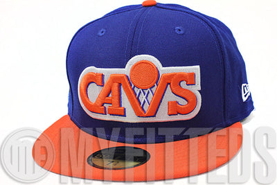 Cleveland Cavaliers Blue Orange February 7-9, 1997 All Star Game Retro Side Patch New Era Hat