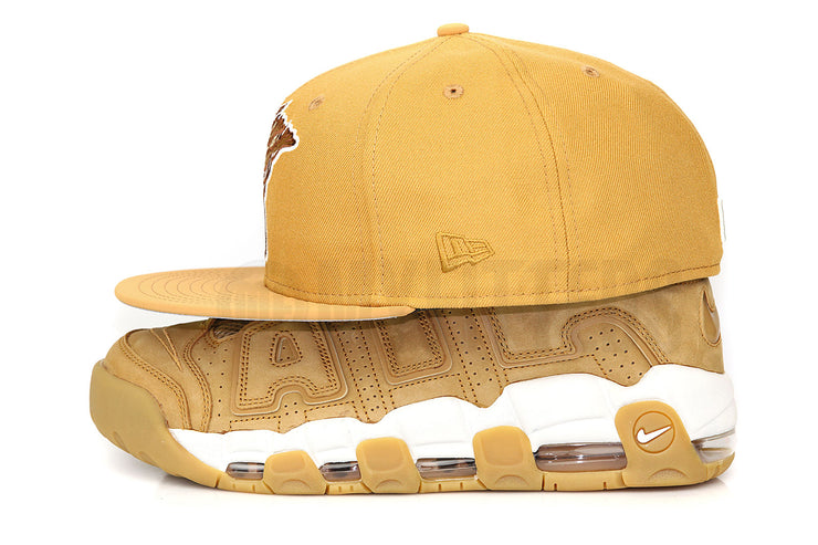 Florida Fire Frogs Birch Veneer & Faux Nubuck Air More Uptempo Flax New Era Fitted Cap