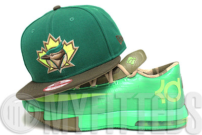Toronto Blue Jays Forest Green Mocha Brown Volt Sail Nike KD VI Bamboo Matching New Era Snapback