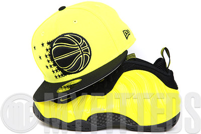 "Orlando Magic Moonbeam Jet Black Air Foamposite One ""Wu-Tang"" Matching New Era Fitted Cap"