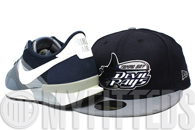 Tampa Bay Devil Rays Midnight Navy Wolf Storm Grey White Black Metallic Sparkle New Era Hat