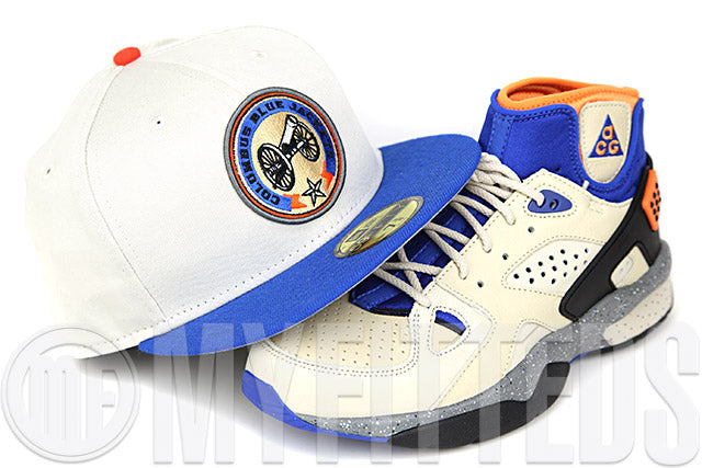 Columbus Blue Jackets Sandstone Forza Azure Orangeade Air Mowabb OG Matching New Era Fitted Cap