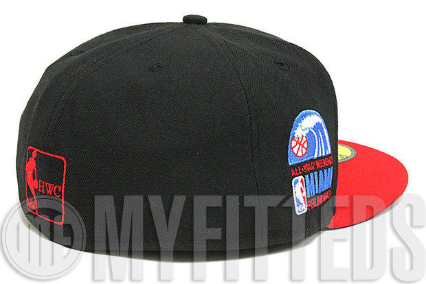 Miami Heat 1990 NBA All Star Game Side Patch Team Colored New Era Fitted Hat
