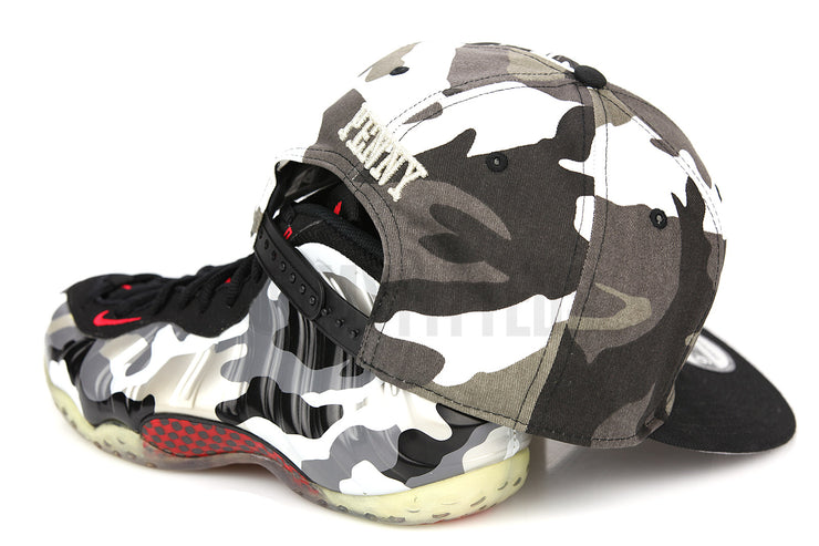"Penny 1¢ One Cent Urban Camouflage Jet Black Air Foamposite One ""Urban Fighter Jet"" New Era Snapback"