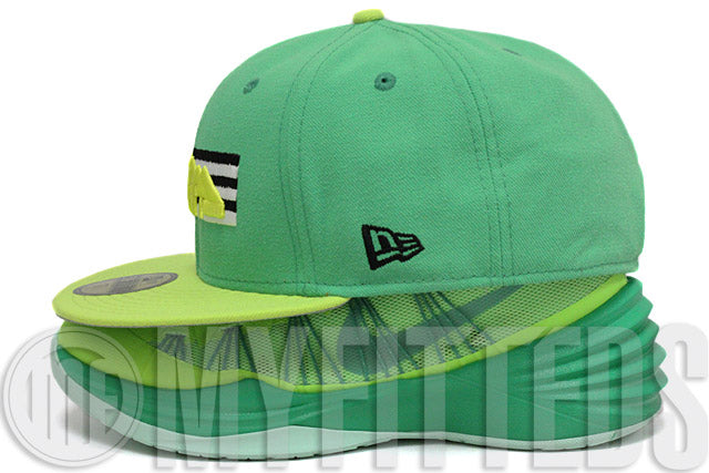 Denver Nuggets Mountain Range Bright Treasure Isle Green Kiwi Lemon Kobe X Vino New Era Hat