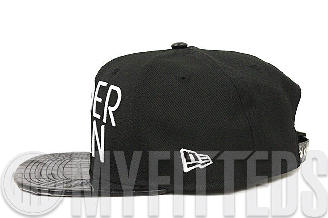 Spiderman Sharp Word Jet Black & Faux Croc Skin Glacial White Original Fit New Era Strapback