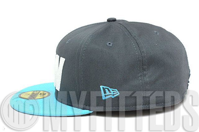 Ekocycle Coca Cola NEW Carbon Graphite Coast Blue White 59Fifty Recycled New Era Fitted Hat