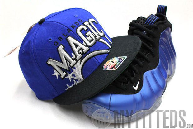 Orlando Magic Overlay Snap Royal Blue Jet Black 47 brand Snapback
