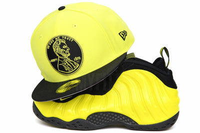 "Penny 1¢ One Cent Jet Black Moonbeam Air Foamposite One ""Wu-Tang"" New Era Hat"