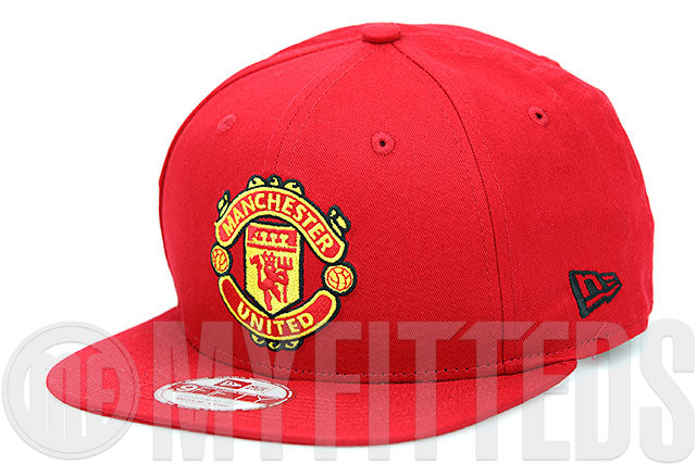 Manchester United MUFC Garnet Fire Team Color New Era 9FIFTY Original Fit Snapback