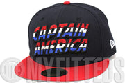 Captain America Midnight Navy Battle Red Glacial White Cerulean Marvel Comics New Era Hat