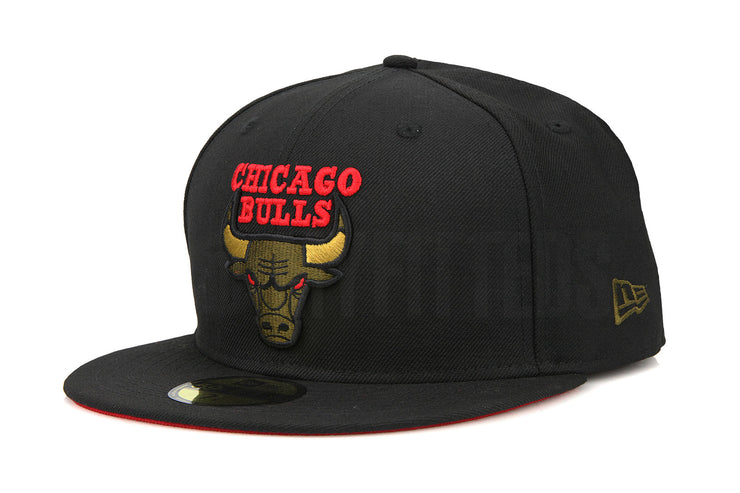 "Chicago Bulls Jet Black Moss Green Air Jordan IX XIII ""Olive"" Matching New Era Hat"