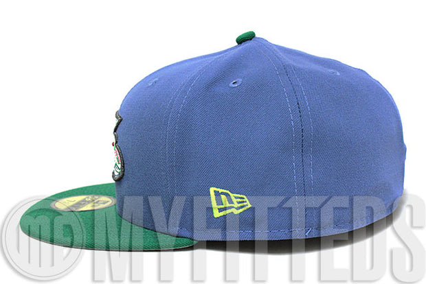 Winston Salem Dash Slate Blue Kelly Green Volt Berry LeBron XI GS New Era Fitted Hat