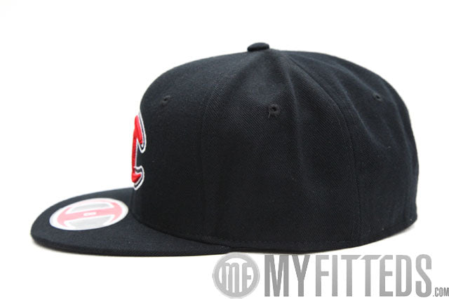 Champion Big C Jet Black Scarlet Snow White Classic Fitted Cap