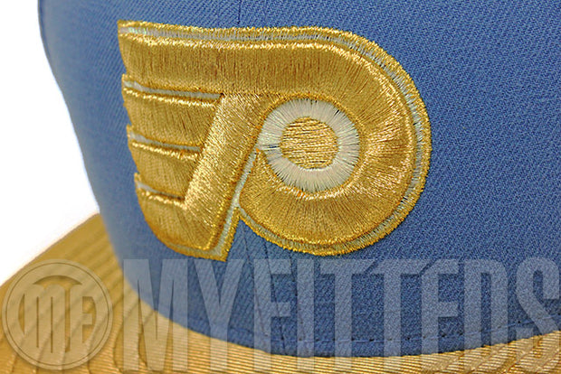 Philadelphia Flyers Angelic Force Slate Metallic Gold White Masion Du Blue Lebron X Elite New Era Hat