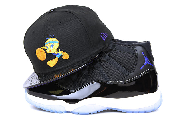 "Looney Tunes Tweety Bird Tunesquad Air Jordan XI ""Space Jam"" OG Matching New Era Hat"