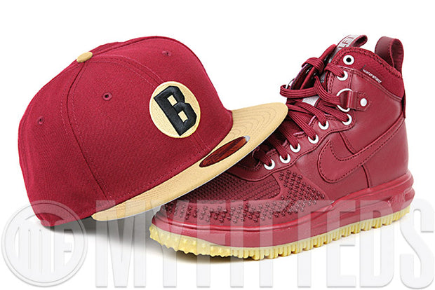 Baltimore Orioles Russet Sunset Wheat Toast Jet Black Lunar Force 1 Duck Boot New Era Fitted Cap