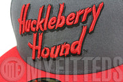 Huckleberry Hound Hanna-Barbera Carbon Graphite Grey Scarlet Black New Era Hat