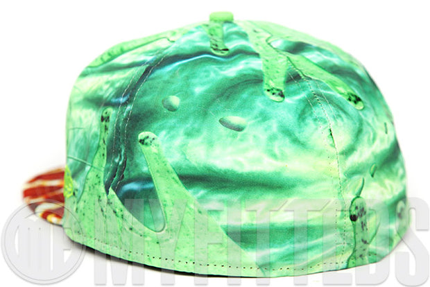 Ghostbusters Slimer Pizza Chomper Sublimated Character Face All Over New Era Fitted Cap
