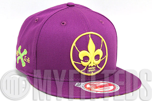 New Orleans 2014 NBA All Star Weekend Violet Pink Gold Glow In The Dark New Era Snapback