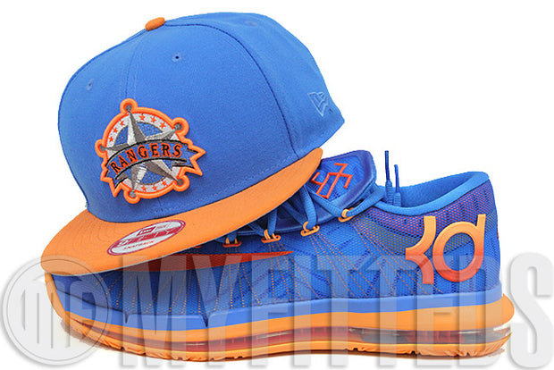 Texas Ranger Dolphin Blue Solar Outburst KD VI Elite Team Matching New Era Snapback Hat