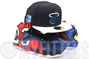 Miami Heat Perennial Blue Lakeshore Slate Glacial White Swingman LeBron IX New Era Hat
