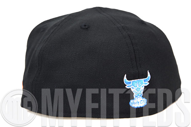 "Chicago Bulls Jet Black Glacial White California Blue Air Jordan II ""Radio Raheem"" Matching New Era Hat"